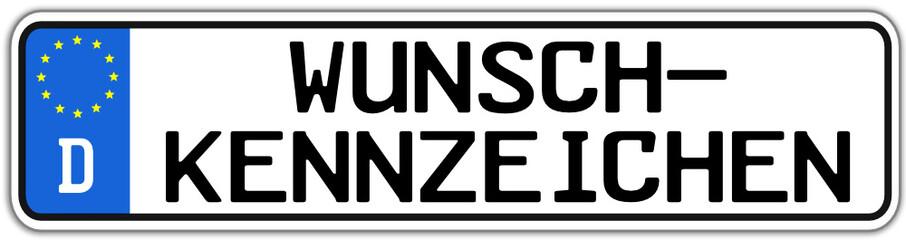 Wunschkennzeichen Schild #141128-svg12