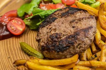 still life with fast food hamburger menu