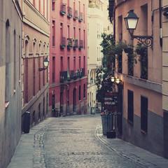 The street in Madrid, Spain.
