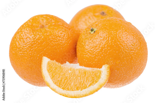 canvas print picture fresh sliced oranges isolated