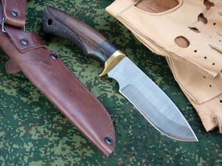 Knife tourist from Damascus  steeld