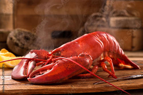 Aluminium Schaaldieren Steamed Lobster