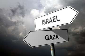 Israel and Gaza directions.