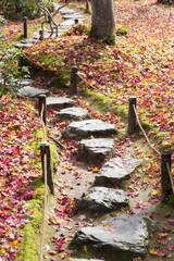 の京都大河内山荘の庭石