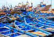 Blue boats of Essaouira, Morocco - 73908229