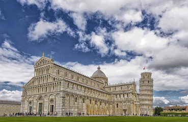 Beautiful view of Pisa Cathedral.