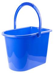 blue backet isolated