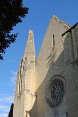 Maine-et-Loire - Montreuil-Bellay - Façade Eglise Notre-Dame