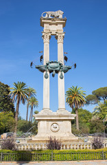 Seville - The Monumento a Cristobal Coloon