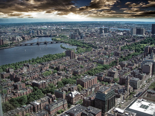 Aerial view of Boston