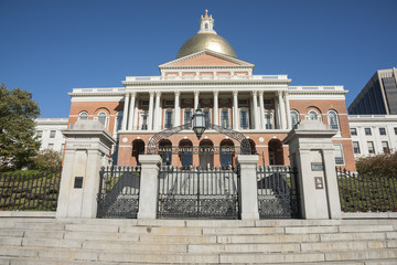 Massachusetts State House, Bullfinch Entrance gate.