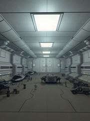 Space Station Hanger Deck