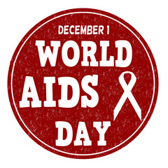 World Aids day stamp