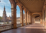 Seville - The portico of Plaza de Espana square