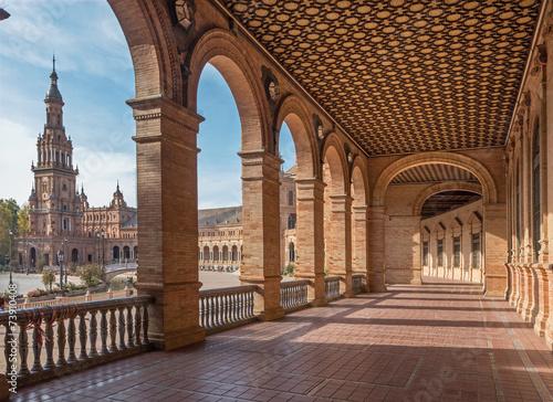 Zdjęcia na płótnie, fototapety, obrazy : Seville - The portico of Plaza de Espana square