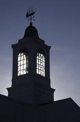 Sun through steeple windows