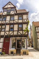 Alte deutsche Häuser in Quedlinburg 06601