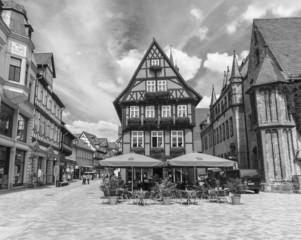 Alte deutsche Häuser in Quedlinburg 06593