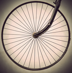 Wheel of ancient bicycle