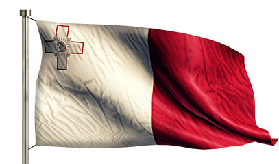 Malta National Flag Isolated 3D White Background