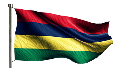 Mauritius National Flag Isolated 3D White Background