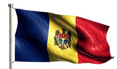 Moldova National Flag Isolated 3D White Background