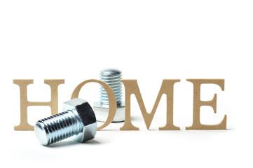 アルファベットの文字と住宅イメージ