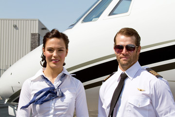 Profile of Pilot and stewardess