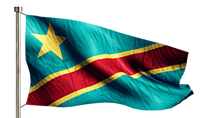 Democratic Republic of the Congo National Flag Isolated