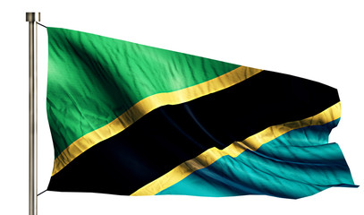 Tanzania National Flag Isolated 3D White Background