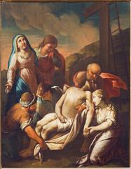 Venice - Deposition of the cross  in church San Francesco