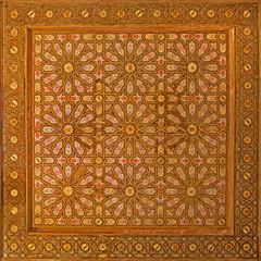 Seville - The mudejar ceiling in Alcazar of Seville.