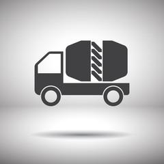 cement truck vector icon