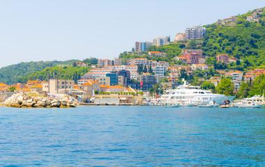 The Mediterranean coast and the view of Budva. Montenegro