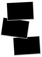fonds noirs avec bordure pour photos