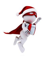 morph man santa super hero