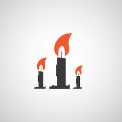 vector candles symbol