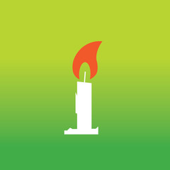 vector candle symbol