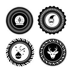 vector christmas label set