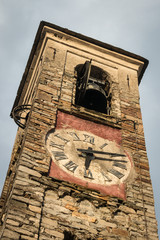 detail of medieval clock tower