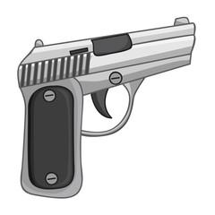 gun isolated illustration