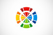 round circle colorful abstract logo vector