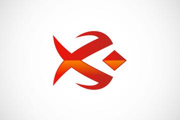 abstract fish unusual logo vector
