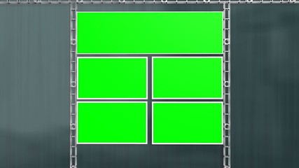 Virtual Studio Green Screen Video Wall Background Animation