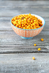Sour sea buckthorn in a bowl