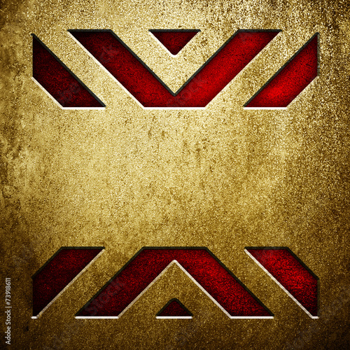 metal background with X pattern - 73918611