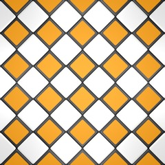 Green, yellow and white mosaic