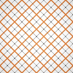 White and orange mosaic