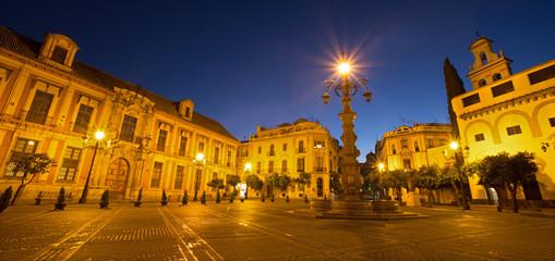 Seville - Plaza del Triumfo and Palacio arzobispal