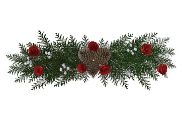 Christmas garland isolated